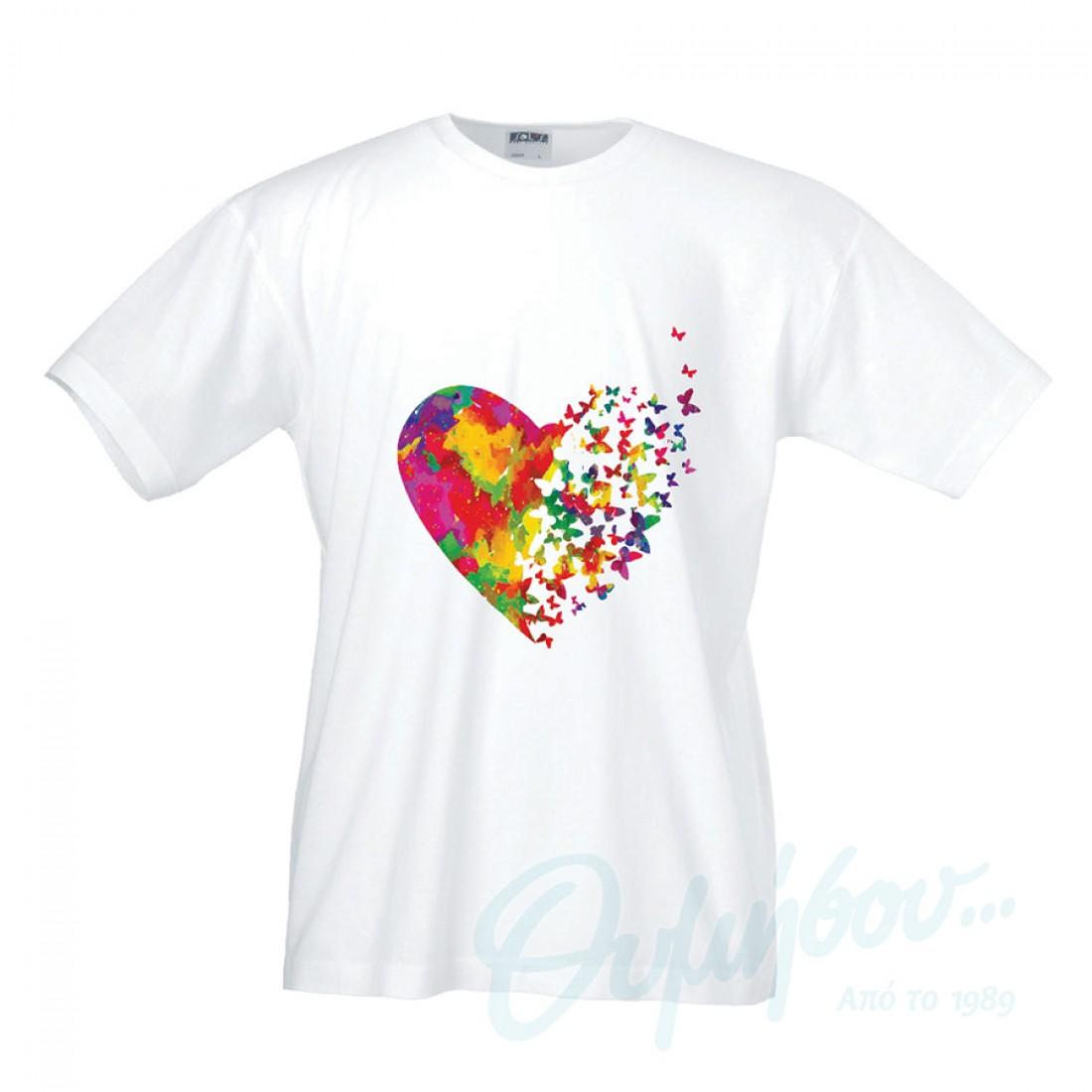 1825506997bc Λευκό μπλουζάκι με ψηφιακή εκτύπωση thimisou.gr
